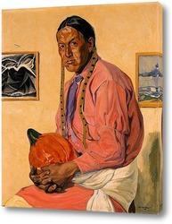 Картина Мужчина с тыквой