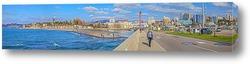 Постер Панорамный вид на Сочи со стороны морского вокзала