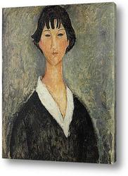 Картина Девушка с черными волосами