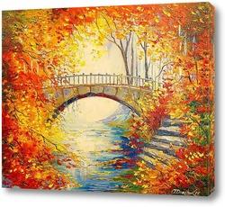 Картина Осень в старом парке