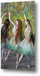 Танцовщицы в розовом и зеленом