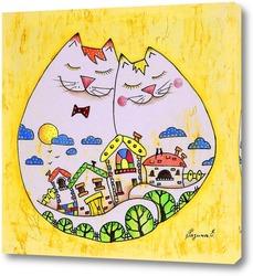 Картина Счастье в доме
