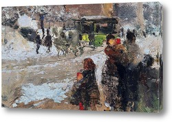 Постер Карроббио под снегом, Милан