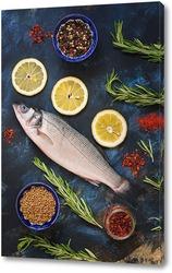 Постер Свежая рыбка