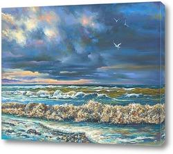 "Картина Картина: ""Вечерний шторм """