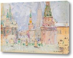 Картина Зимний день,Москва