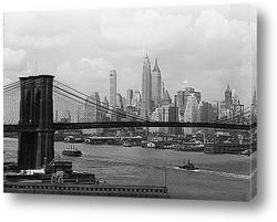 Постер Вид Манхэттена и Бруклинского моста