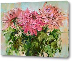 Картина Розовые хризантемы