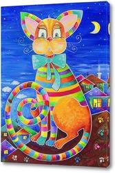 Постер Счастливый кот