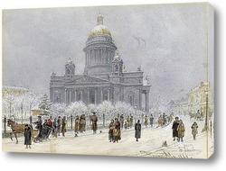 Исаакиевский собор в снежный день