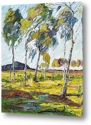 Картина Берёзовй лес
