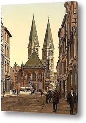 Постер Императора Вильгельма,Бремен, Германия.1890-1900 гг