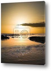 golden orb sunset