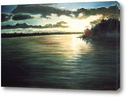 Картина Закат над озером