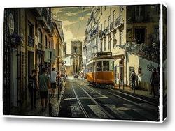 Постер Улочки Лиссабона