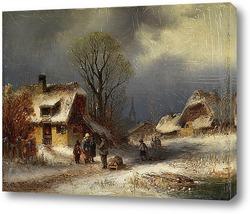 Сцена Зимней деревни