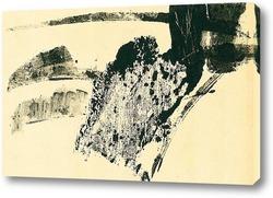 Картина апрель.вид с горы