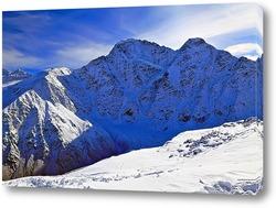 Постер Снежная вершина горы Чегет. Кабардино-Балкария