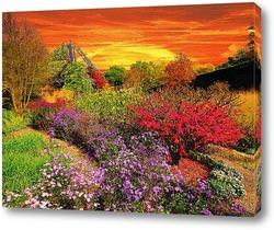 Картина В осеннем саду
