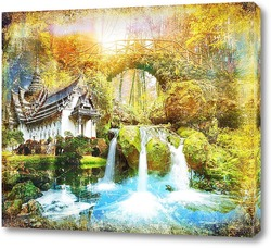 Освежающий водопад