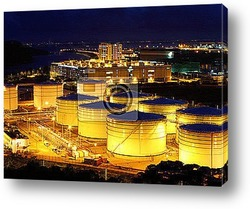 Постер Нефтяные танкеры  ночью