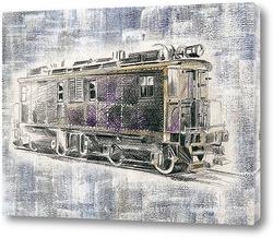 Постер Американский старинный поезд Ингерсол