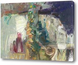 Картина колба вина и чашка утреннего кофе