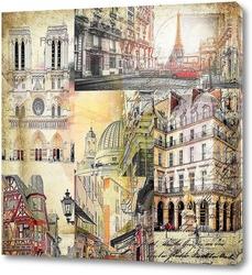 Постер По улочкам Парижа