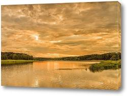 Постер Река в вечернее время