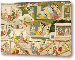 Картина Эпизод из Махабхарата, 1820