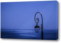 Постер Лунный свет над морем