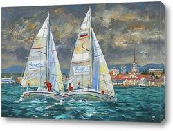 """Картина Картина: """"Гоночные яхты Elan-210 """""""