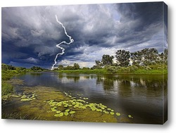 Постер Молния на реке