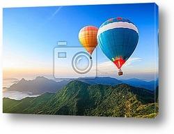 Постер Цветные воздушные шары