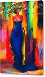 Картина Синее платье