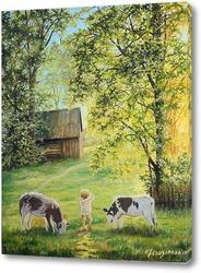 Постер Летом в деревне