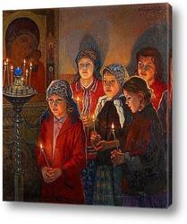 Постер В церкви
