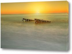 Постер Закат на море