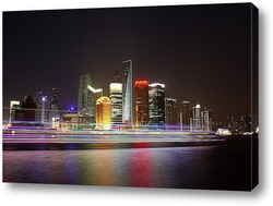 shanghai bund in the dusk