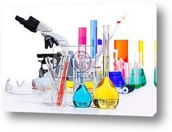Постер  Пробирки в лаборатории