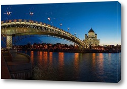 Chain bridge on Danube river, Budapest, Hungary