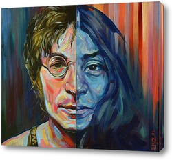 Постер Джон Леннон и Йоко Оно .