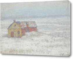 Снегопад на ферме