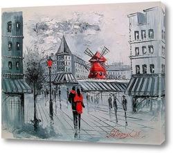 Постер Мулен Руж в Париже