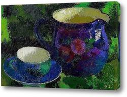 Постер Горшок и чашка