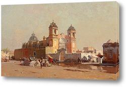 Постер Церковь Санта-Анна в Мексике, 1885