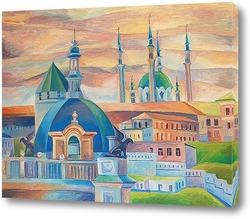 Картина Казанский кремль