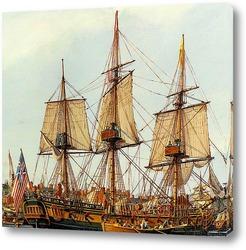 Картина Подробности подготовки корабля