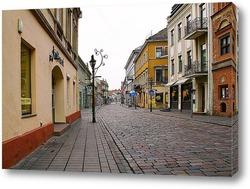 Постер Литовский город Каунас зимой