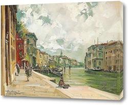 Постер Канал Гранде в Венеции